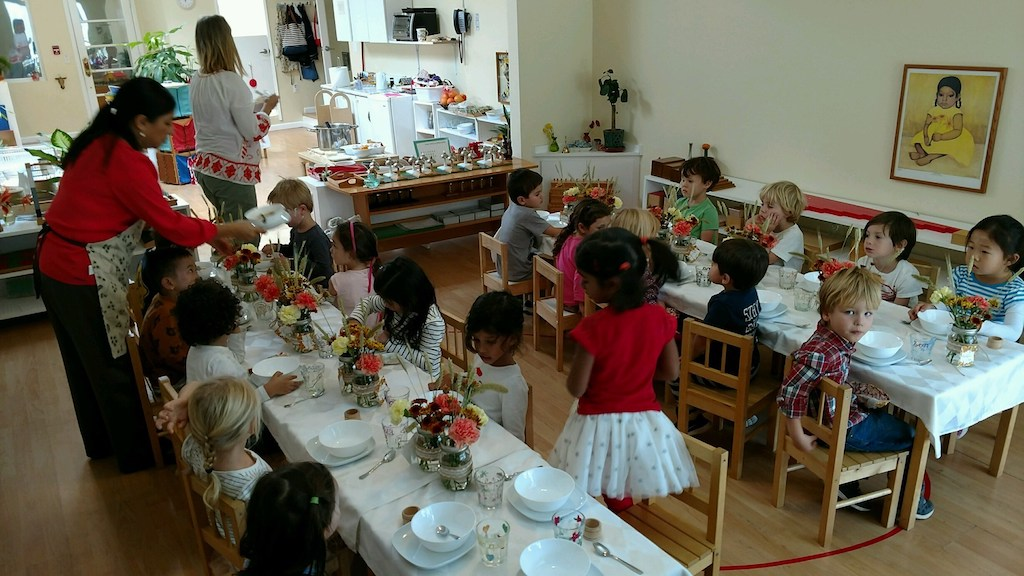 Primary 2 Harvest Lunch Both Tables