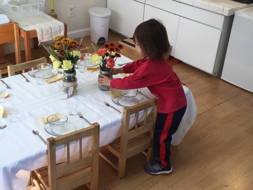 Toddler 2016 Harvest Lunch-Setting Table